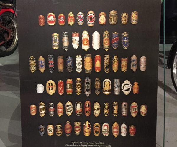 Norske sykkelmerker. Z museum